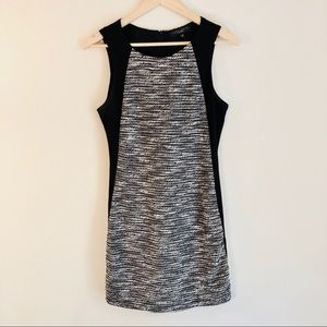 Sanctuary - Sleeveless Black & Woven Panel Dress